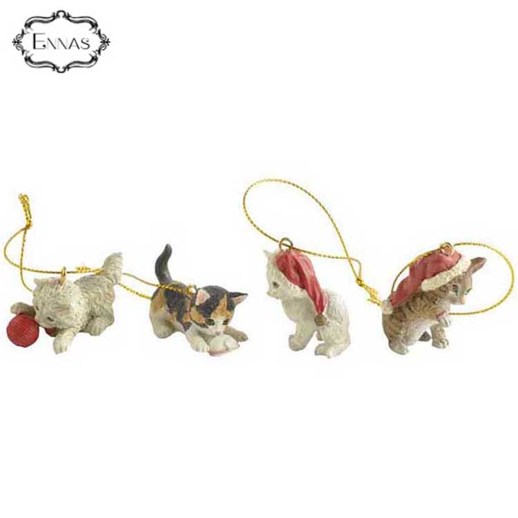 High Quality Polyresin Cat Figurine Ornament for Gifts