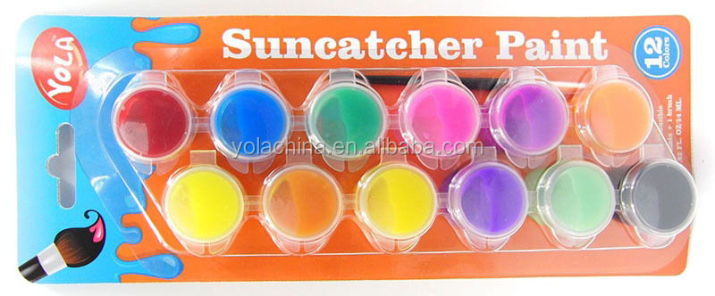 Suncatcher Paint Wholesale Art Crafts Paint 6 Strip Connected Paint Pots (4.5ml each)