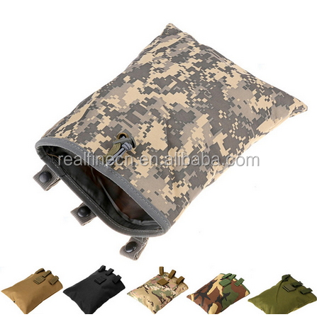 Waterproof MOLLE large recovery debris bag outdoor camouflage package tactical vest attachment bag