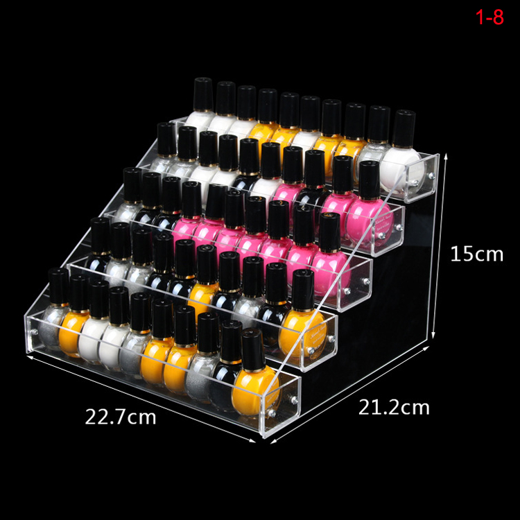 Accept customized design transparent acrylic card cardboard display stand acrylic lipstick nail polish display stand