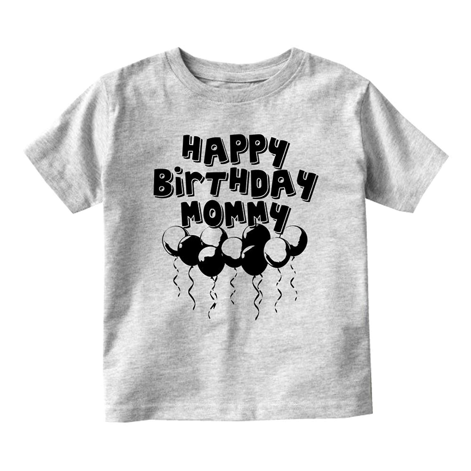 Kids Streetwear Happy Birthday Mommy Balloons Baby Toddler T Shirt Tee