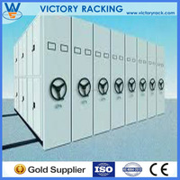 office vertical aisle shelving movable filing system