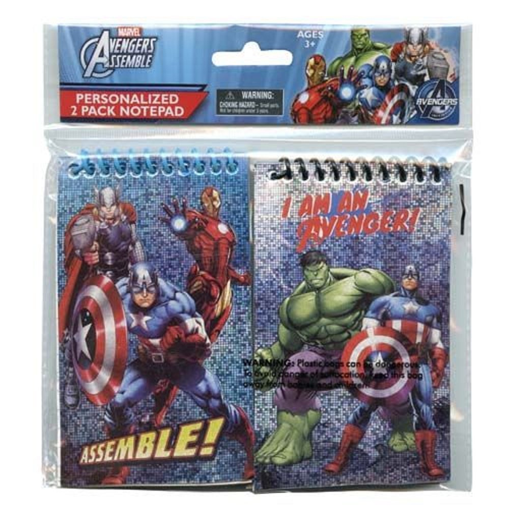 "Marvel Avengers Foil 3"" x 5"" (2 Pack) Memo Pad in Poly Bag - Notepad."