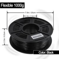 Non-toxic flexible 1.75mm plastic rods 3d filament rubber