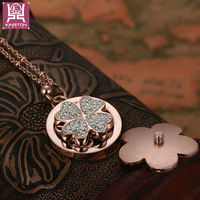fashion jewelry rose gold stainless steel necklace Twinkling clover