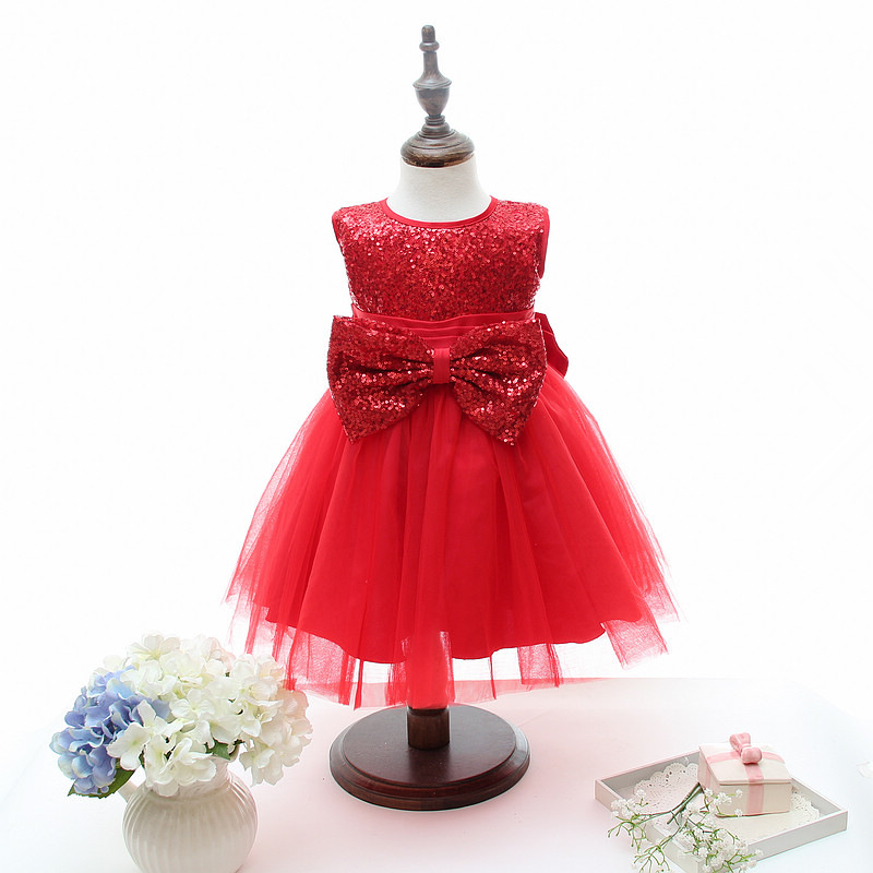 get quotations girl christmas dress 2015 new girls fashion sequin bow party princess dresses childrens christmas clothes