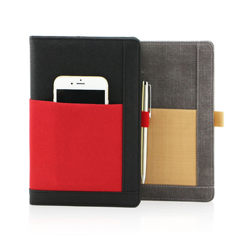 A4 A5 A6 ruled writing notebook with pockets planner custom  hardcov leather diary  printing journal gifts to personalize