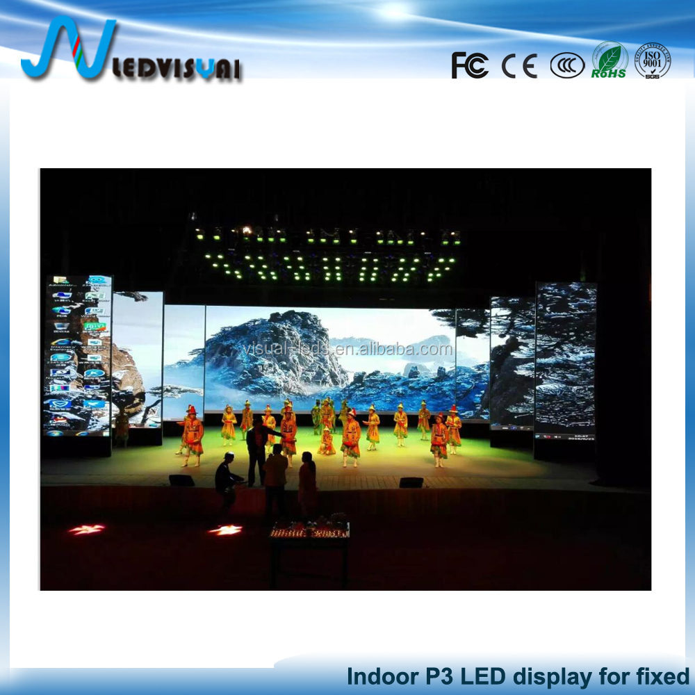 P3 Digital Billboards For Indoor Stage Background Advertising Usage