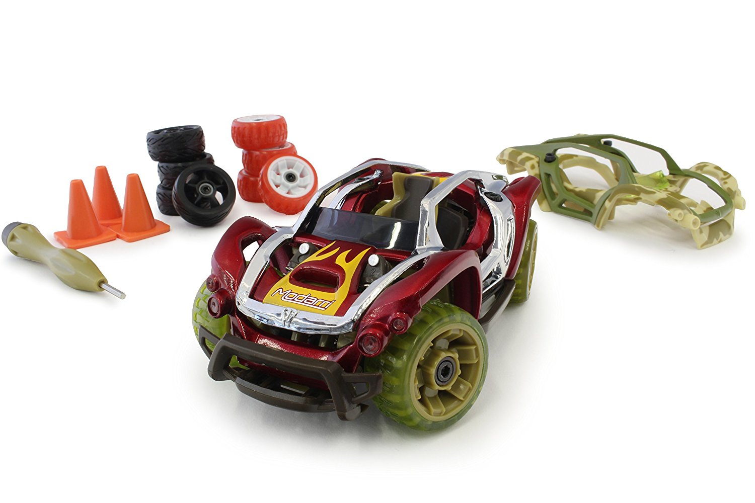 Modarri X1 Camo Dirt Car Bundle – Ultimate Toy Car: Fully Customizable – Mix and Match For Thousands of Designs – Real Steering and Suspension – Educational Construction Toy For Kids