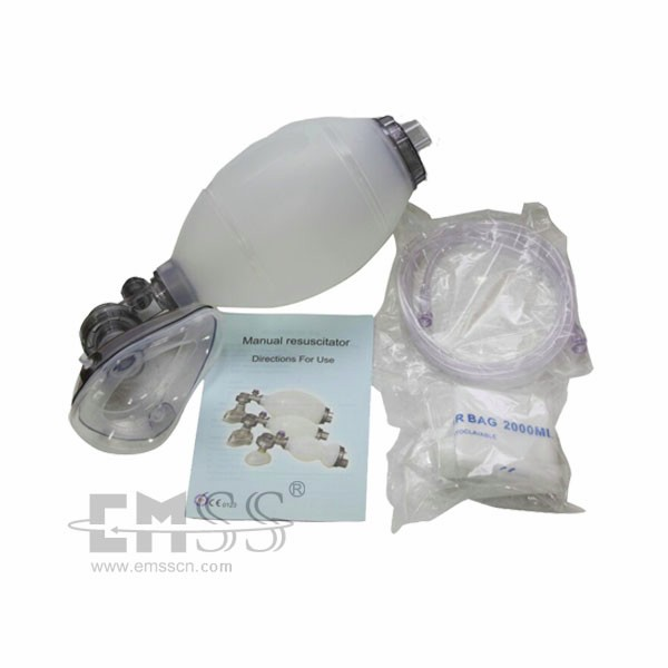 Compact adult manual reusable silicone resuscitators