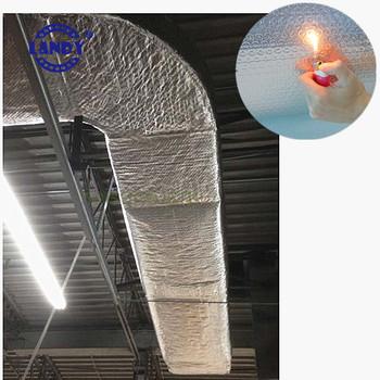 Heat Insulating Materials Foil Bubble Faced Steam Pipe Pe