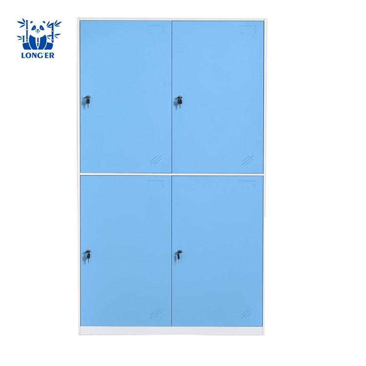 2a2053b50 Móveis práticos material de aço armário de armazenamento 4 roupas de ...
