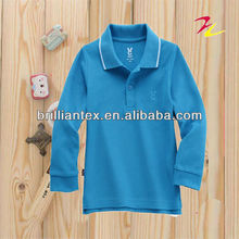 2012 hot style pique boy long sleeve colorful polo shirt designs