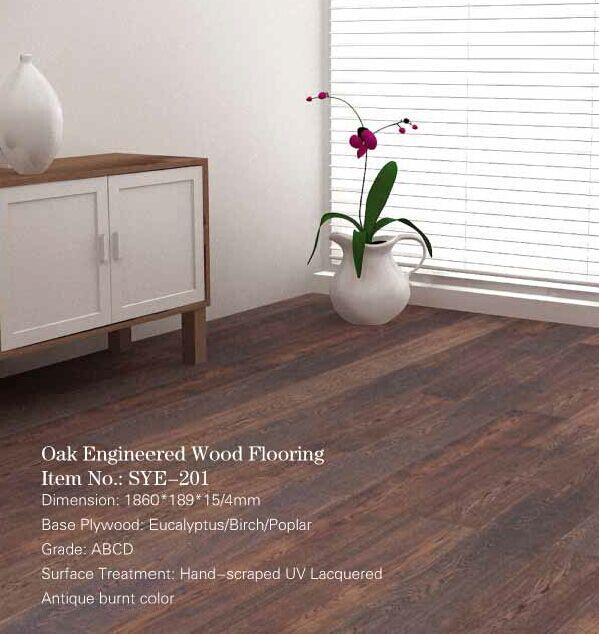 Antique Burnt Oak Engineered Wood Flooring Wholesale Wood Flooring
