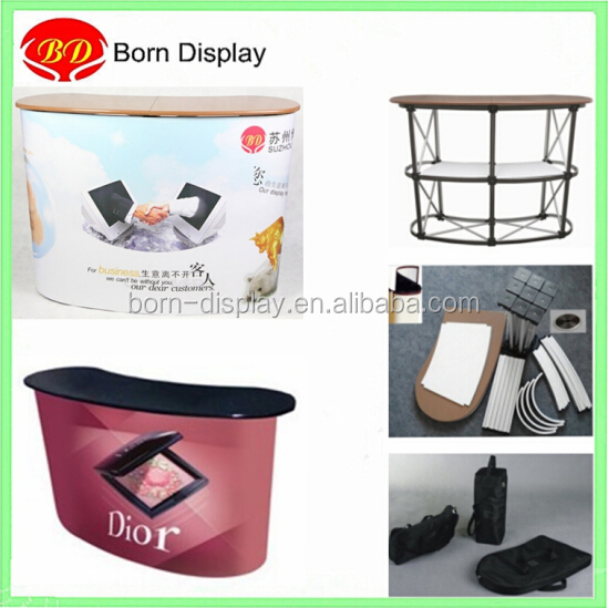 Portable display table promotion counter booth for supermarket sample demo