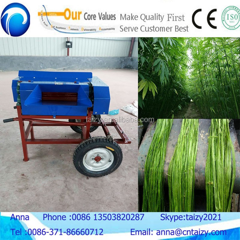 Kenaf ramie fiber processing machinery hemp flax decorticator and raspador