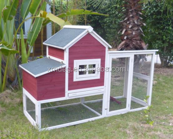Factory price aluminium large wood pet house chicken coop for outdoor