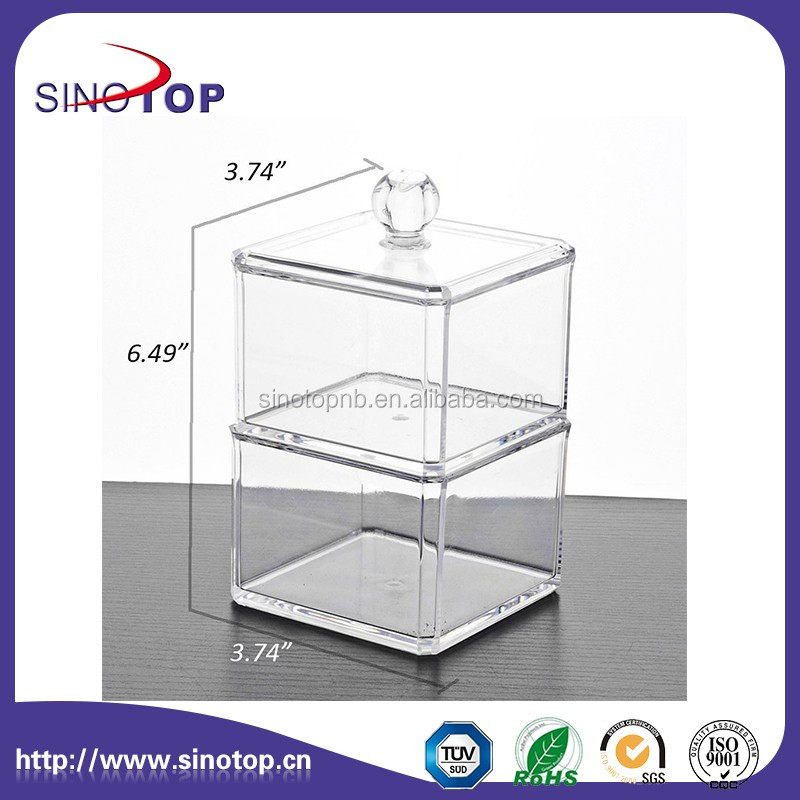Acrylic Cube Plexiglass Capsule Pod Holder, Clear Dispenser, Storage Solution for Machines
