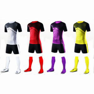 Customize Sports Jersey Man Kids Jersey Soccer Uniform Kits Set
