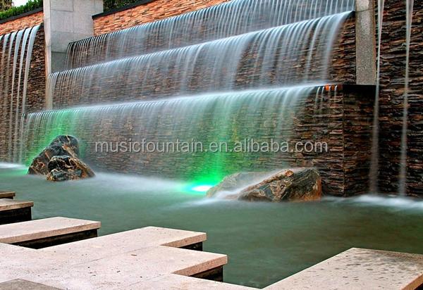 Decorativi per esterni artificiale muro cascata fontana for Fontana artificiale