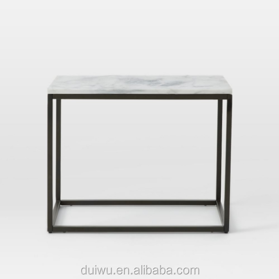 Foshan shunde factory home metal furniture small marble beside table
