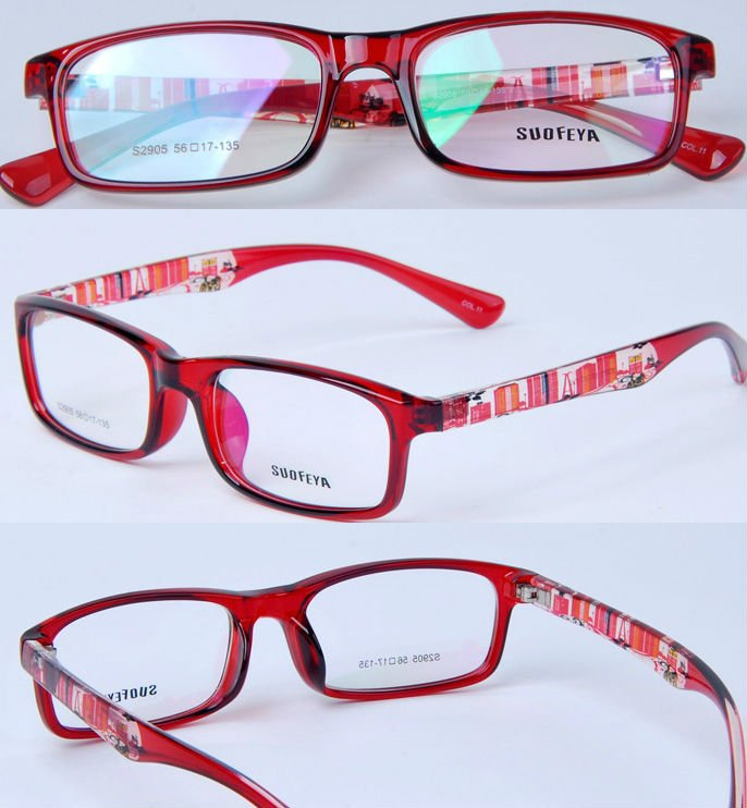 2012 fashion glasses optical red small frames