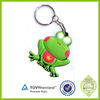 designer China manufacturer 3d frog cartoon custom soft pvc rubber keyring