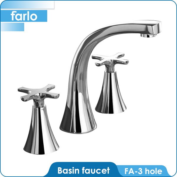 FARLO Dual Handle 4 inch Bathroom High Quality Lavatory Faucets