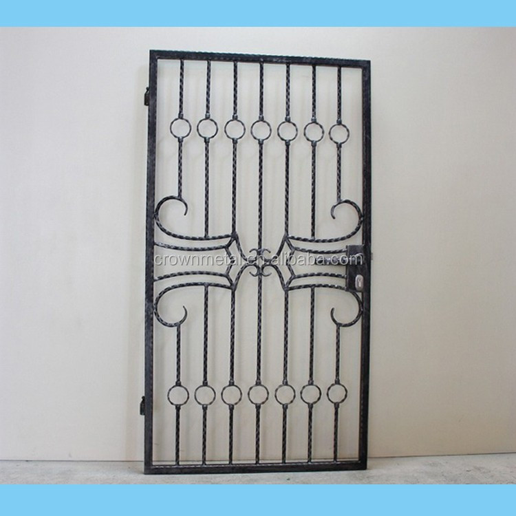 Hand made forging single cast iron main gate design buy for Single gate designs for homes