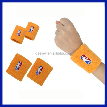 Custom Embroidery Logo / Number / Text 4 inch sport terry wristband