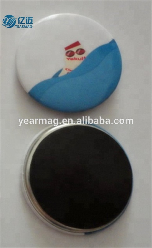 Custom Made Design Round Shape Metal Tin Fridge Magnet for Souvenir Deco on Refrigerator with Magnetic Bottom Base
