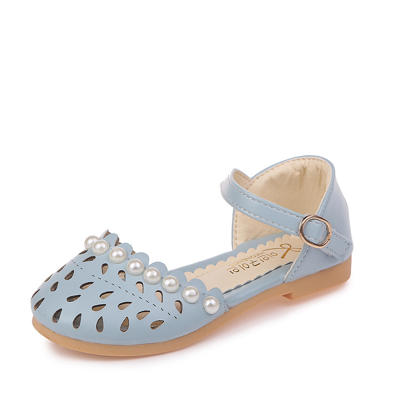 New design fashion style soft sole children pearl princess <strong>sandals</strong>