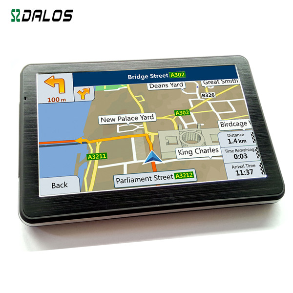 Portable 7inch HD 800*480 car multifunction gps sat navigation with MP4, WMV, AVI video support