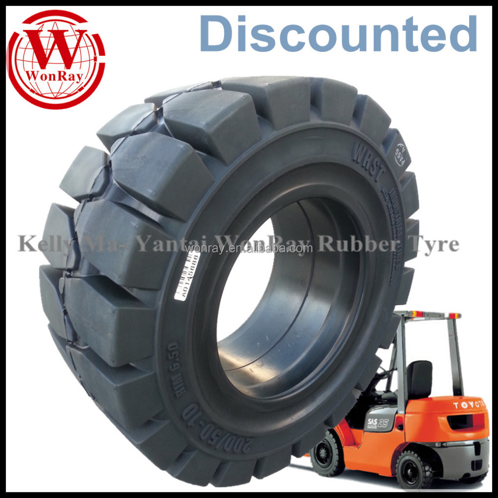 Advanced 6.50-10 Solid forklift tire 6.50x10 No More Flat Tires 650-10 With Prices Discount for Distributors