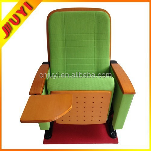 JY-602 Steel Material Conference Seat Floor Mounted Cold molded Foam Red Fabric Theatre Movie VIP Agent Church Chair Distributor