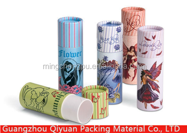 custom design eco cardboard kraft paper lipstick tube for lip balm