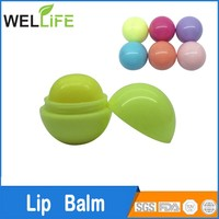 Cute design customized top quality oil free ball lip balm