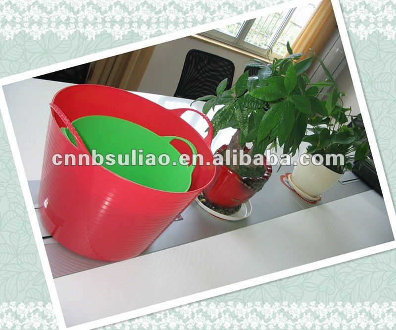 flexible wash bucket pail