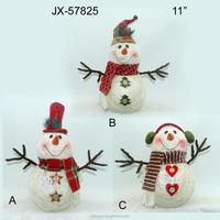 Christmas gift hemp yarn snowman with light decoration