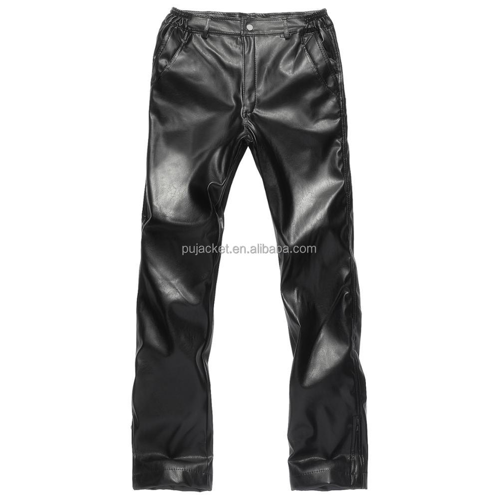 2017 new fashion men's pu leather pants,leather pants,men's fishion pants pu leather pants with fur collar for men