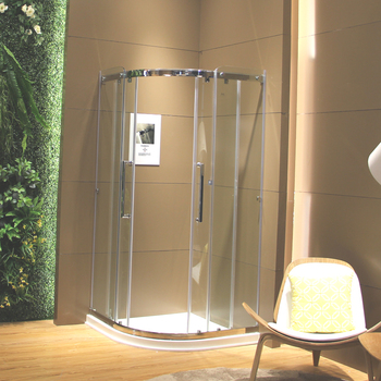 Modern Style 6mm Curved Glass Bathroom Shower Room Price In India ...