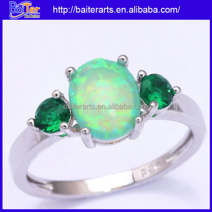 with new topaz white black fire rings engagement plated mystic rhodium opal graceful ring of