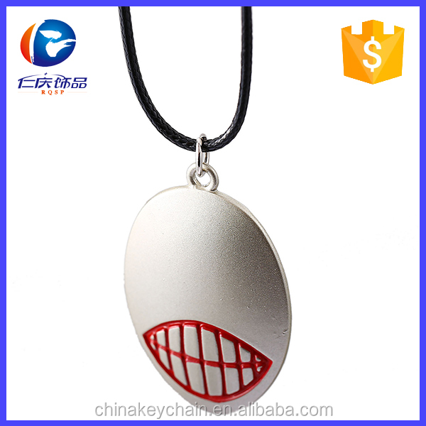Hot anime Tokyo Ghoul necklace metal Tokyou Ghoul mask necklace for promotion