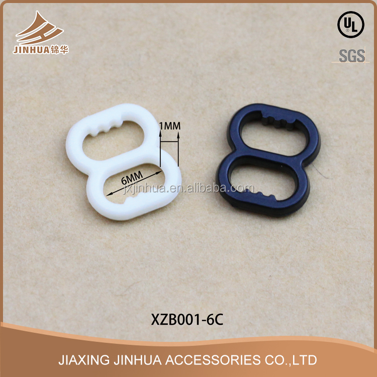 High Quality Custom Size Plastic Bra Strap Slider Adjuster Buckle