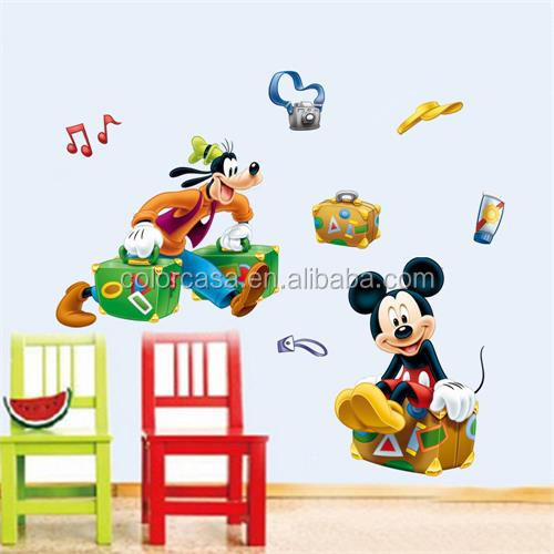 Colorcasa decoratieve diy muurstickers Micky muis Disney cartoon character stickers (MQ022)
