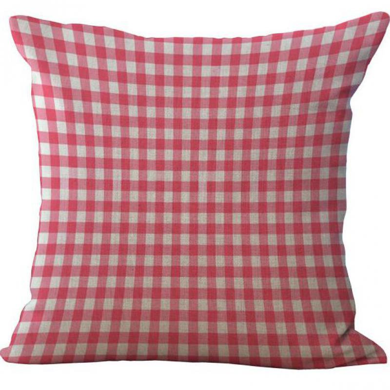 Modern Minimalist Pink Series Striped Giraffe Lattice Dot Ripple Cotton Linen Throw Cushion Cover Home Decor Pillowcase
