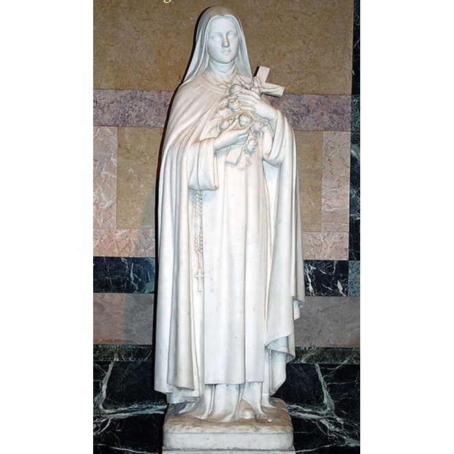 Life size ancient classical Famous St Therese of Lisieux for church decoration