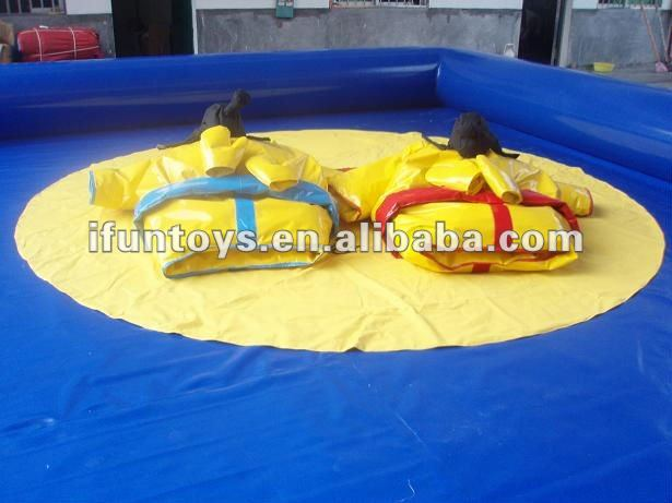 Inflatable sumo wrestling costume