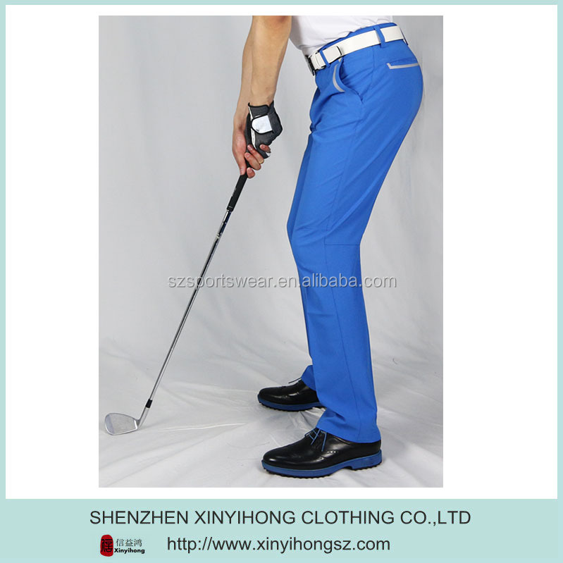 OEM Service Men Golf Pants Trousers Slim Fit/Quick Dry Golf Pants/custom golf pants