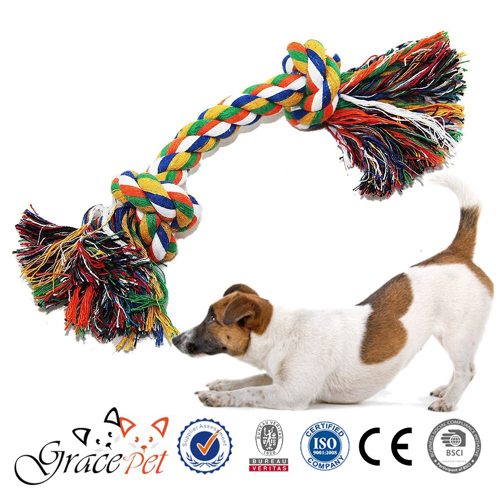 Eco-friendly Dof Chew Toy Set of 2 Cotton Dog Rope Toys